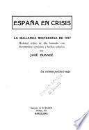 España en crisis: la bullanga misteriosa de 1917