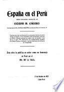 España en el Perú