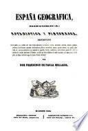 España geográfia, histórica, estadística y pintoresca