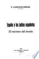 España y los judiós españoles