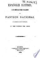 Españoles ilustres, cuyos restos han de ser trasladados al Panteón Nacional en el solemne día de su inaguración, 13 de junio de 1869