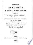 Espíritu de la Biblia y moral universal