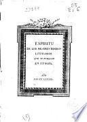 Espiritu de los mejores diarios literarios que se publican en Europa