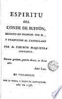 Espíritu del Conde de Buffon