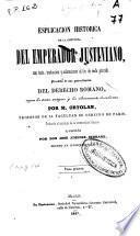 Esplicacion (sic.) historica de la Instituta del Emperador Justiniano