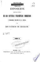 Esposición [sic] histórico-crítica de los sistemas filosóficos modernos y verdaderos principios de la ciencia