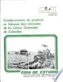 Establecimiento de Praderas en Sabanas Bien Drenadas de Los Llano Oirentales de Colombia