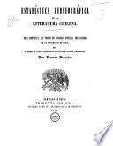 Estadística bibliográfica de la literatura Chilena ...