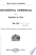 Estadística comercial de la república de Chile
