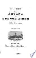 Estadistica de la aduana de Buenos Aires