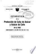 Estadística de la Producción de Caña de Azucar y Azúcar de Caña en el Perú