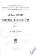 Estadística de los ferrocarriles en explotacíon ...