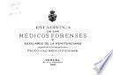 Estadistíca de los médicos forenses y auxiliares de la Penitenciaría