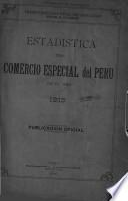 Estadística del comercio especial del Perú en el año ...