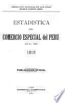 Estadística del Comercio Especial del Perú
