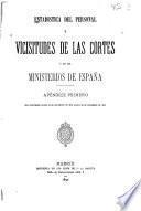 Estadística del personal y vicisitudes de las Cortes y de los ministerios de España