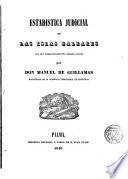 Estadística judicial de las Islas Baleares...