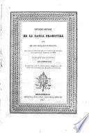 Estado actual de la causa promovida por Doña Maria Josefa Retes de Bustamante