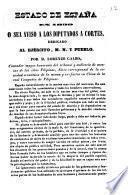 Estado de España en 1839 o sea Aviso a los diputados a Cortes, dedicado al Ejército. M. N. y pueblo