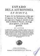 Estado de la astronomia en Europa