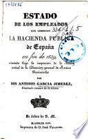 Estado de los Empleados que componen la Hacienda pública de España