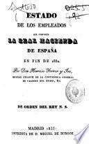 Estado de los Empleados que componen la Real Hacienda de España