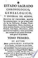 Estado Sagrado chronologico, genealogico, y universal del mundo