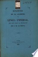 Estatutos de la Academia de Lengua Universal