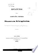 Estatutos de la Compañia minera Nueva Virginia
