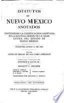 Estatutos de Nuevo México anotados