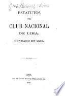 Estatutos del Club Nacional de Lima