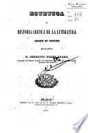 Estética e historia crítica de la literatura
