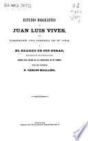 Estudio biográfico de Juan Luis Vives