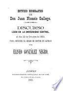Estudio biográfico de Juan Nicasio Gallego