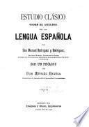 Estudio clásico sobre el análisis de la lengua española