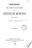 Estudio comparado del proyecto de reforma del Código de minería