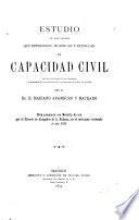 Estudio de las causas que determinan, modifican y extinguen la capacidad civil según la filosofía del derecho, la historia de la legislación y el derecho vigente en España