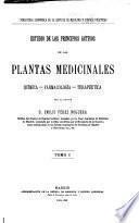 Estudio de los principios activos de las plantas medicinales