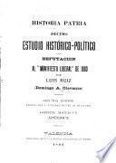 Estudio histórico-político