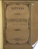 Estudio sobre la riqueza de Cuba