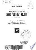 Estudios críticos sobre filosofía y religión