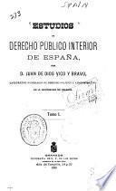 Estudios de derecho público interior de España