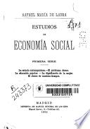 Estudios de economía social
