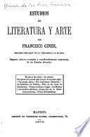Estudios de literatura y arte