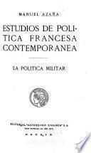 Estudios de política francesa contemporanea