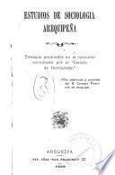 Estudios de sociología arequipeña