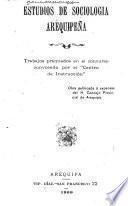 Estudios de sociologia arequipeña