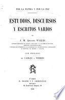 Estudios, discursos y escritos varios, de J.M. Quijano Wallis