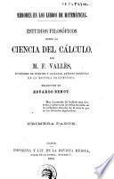 Estudios filosóficos sobre la ciencia del cálculo