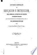 Estudios generales de educación e instrucción